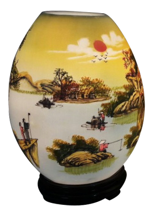 đèn xông tinh dầu trứng vẽ vừa